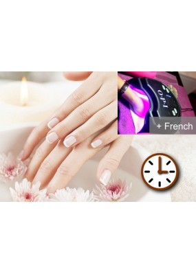 Manucure Express & Pose de vernis semi permanent French